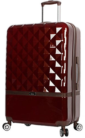 "Nicole Miller New York Madison Collection Hardside 24"" Luggage Spinner (Burgundy)"