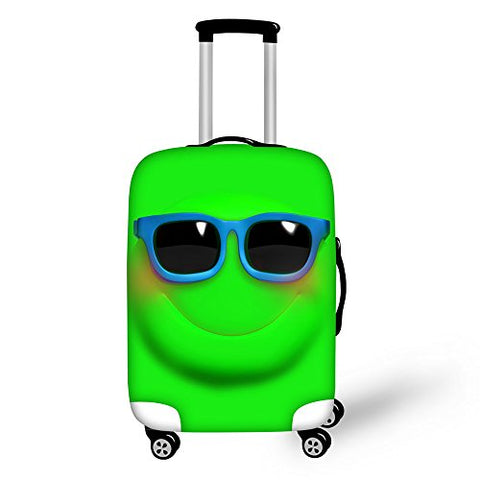 Thikin 18/22/28 Inch Cute Emoji Smile Face Dustproof Luggage Cover For Travel