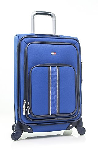 "Tommy Hilfiger Signature Solid 20"" Expandable Spinner, blue"