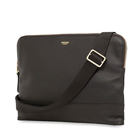 "Knomo Mayfair Luxe Molton 12"" Crossbody - Black"