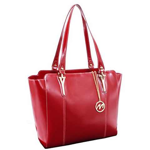 McKleinUSA ALICIA 97516 Red Leather Women's Business Tote