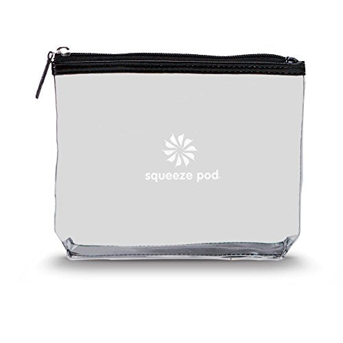 Squeeze Pod Tsa Approved Clear Toiletry Bag, 3-1-1 Tsa Compliant Quart Size Carry On Bag For Travel