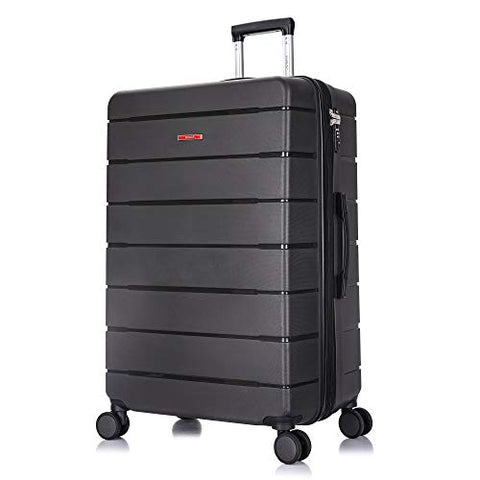 DUKAP Definity Lightweight Hardside Spinner 28'' inches Large Luggage Grey