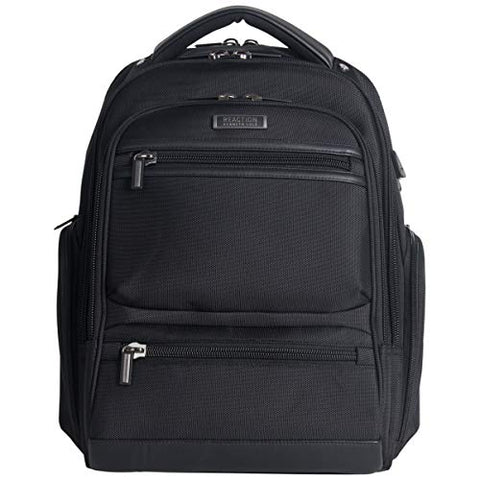 "Kenneth Cole Reaction Dual Compartment 17"" with USB Laptop Backpack Black One Size"