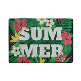 Passport Holder Colorful Summer Palm Tree Flower Floral Passport Cover Case Wallet Card Storage