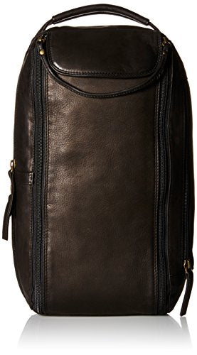 Derek Alexander Twin Top Zip Shoe Bag, Black, One Size