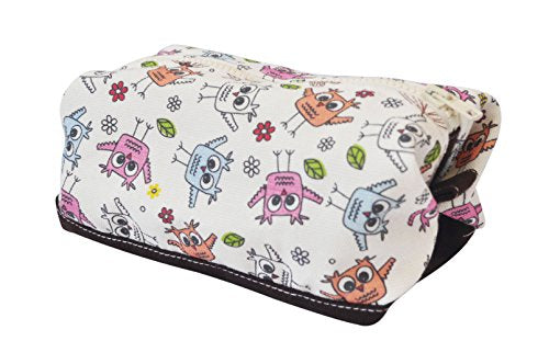 Vietsbay'S Women Owls Patternprint Canvas Toiletry Bag Makeup Cosmetic Pouch