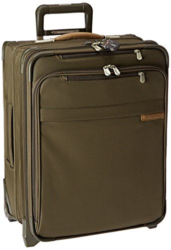 Briggs & Riley Baseline International Carry-On Wide Body Upright, Olive, Medium