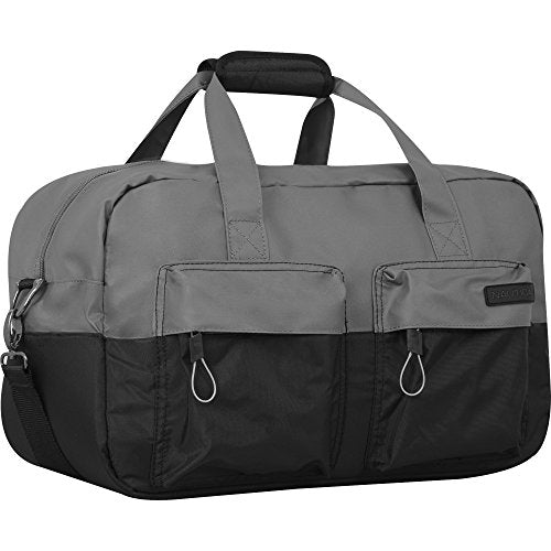 Nautica Harpswell Carry Duffle, Grey/Black