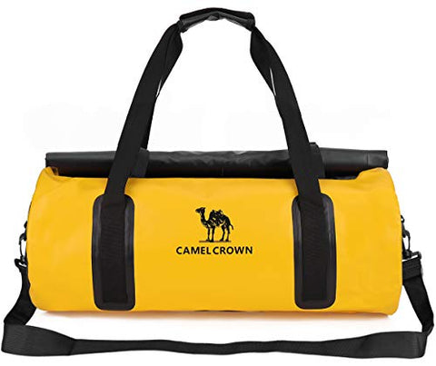 Camel Crown Sports Gym Bag Waterproof Travel Duffel Bags Weekender 30L With Shoulder Strap Yellow