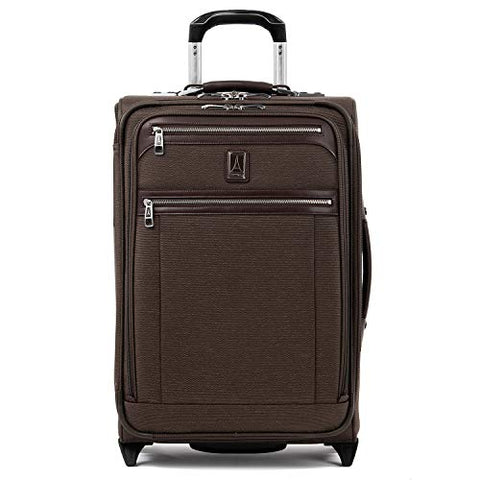 "Travelpro Luggage Platinum Elite 22"" Carry-On Expandable Rollaboard W/Usb Port, Rich Espresso"