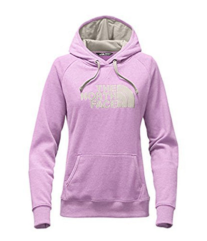 North Face Womens W AVALON PULLOVER HOODIE, Lupine Light Heather (STD)/Moonlight Ivory, L