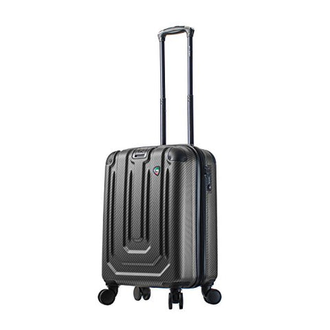 Mia Toro Italy Angolo Hardside Spinner Carry-on, Black