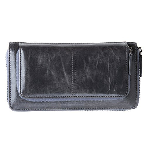 Shiraleah Harper Zip Wallet, Graphite