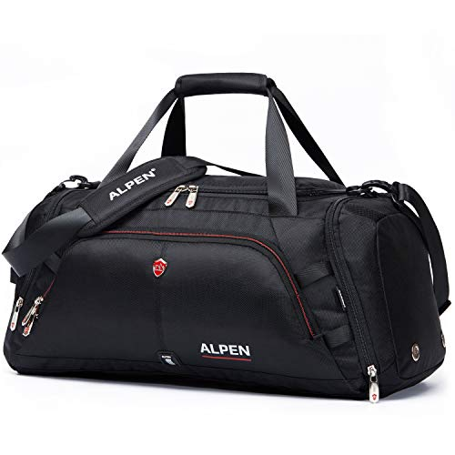 Swiss Alpen - Cervino Duffel - Water Resistant Durable 1680D Carry On Travel Duffel Bag Gym