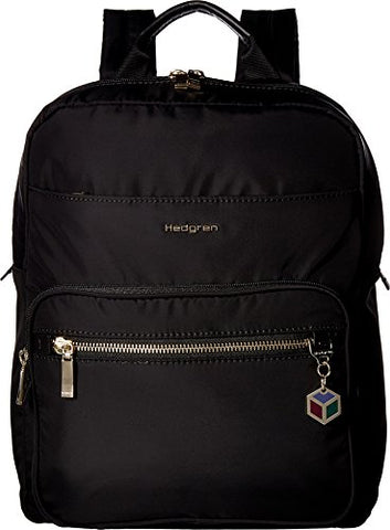 Hedgren Women'S Spell Backpack With Leather Trim Black One Size