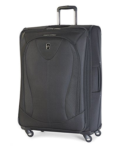 Atlantic Luggage Ultra Lite 3 29 Inch Expandable Spinner, Black, One Size