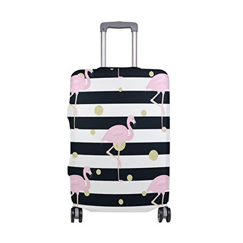 GIOVANIOR Flamingo And Flowers Luggage Cover Suitcase Protector Carry On Covers