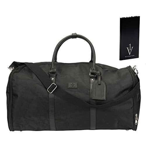 1 Voice 1VFB16_49 The Weekender Garment Bag, Black