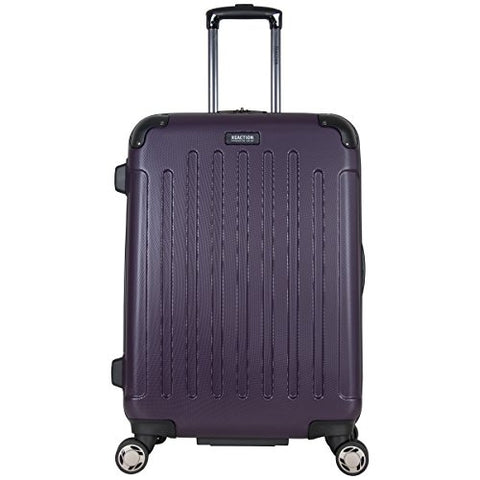 "Kenneth Cole Reaction Renegade 24"" Hardside Expandable 8-Wheel Spinner Checked Luggage, Deep Purple"