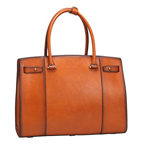 Banuce Vintage Full Grains Italian Leather Handbag for Women Ladies Satchel Purse Shoulder Bag Tote