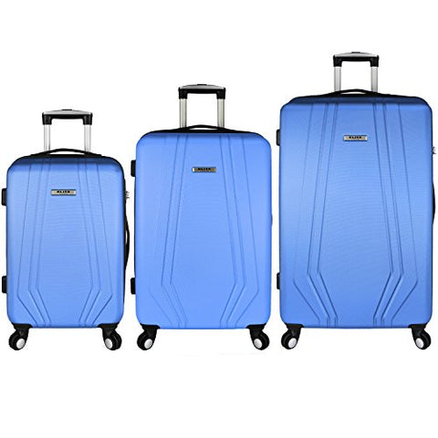 Elite Luggage Paris 3-Piece Hardside Spinner Luggage Set, Blue