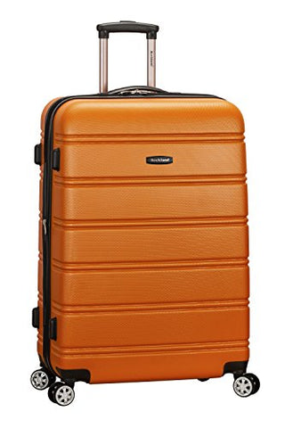 "Rockland Abs 28"" Expandable Spinner Luggage, Orange"