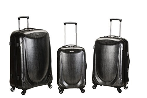 Rockland Luggage 3 Piece Polycarbonate Spinner Set, Gray, One Size