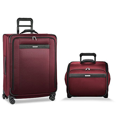 Briggs & Riley Transcend Vx Medium Spinner & Rolling Cabin Set (Merlot)