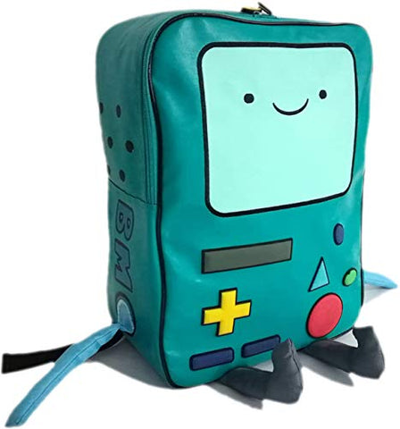 Adventure Time with Finn and Jake backpack CN BMO schoolbag Beemo Be more Cartoon Robot High-grade PU Green
