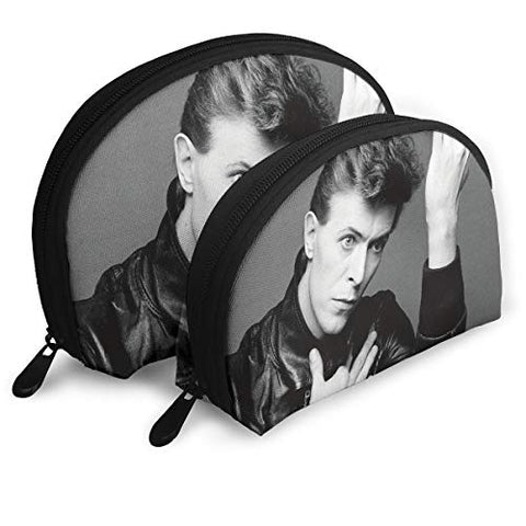 Gltiosr David Bowie Forever Womens Shell Portable Travel Toiletry Bags Clutch Pouch Cosmetic