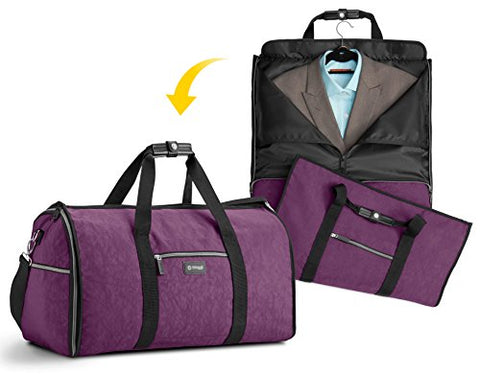 Biaggi Hangeroo Garment Bag+Duffel (One Size, Purple)