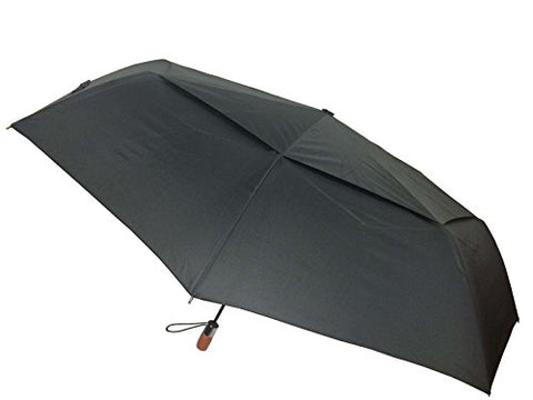 London Fog Windguard Oversize Auto Open-Close Umbrella, Black, One Size