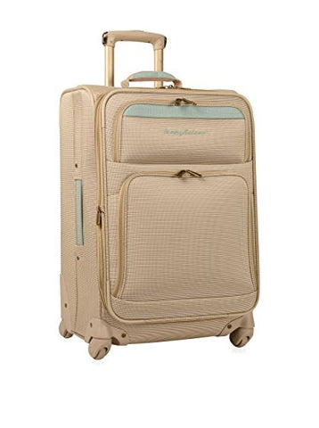 Tommy Bahama Mama 24 Inch Expandable Spinner, Champagne/Light Blue