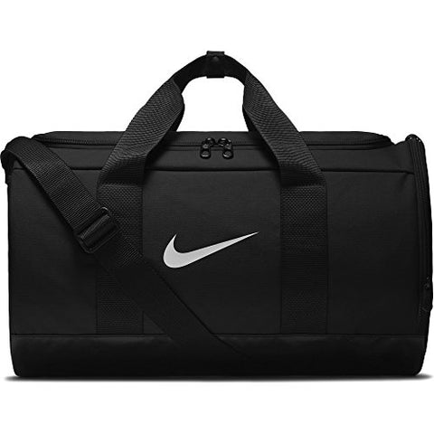 NIKE Team Women's Training Duffel Bag, Black/Black/White, One Size