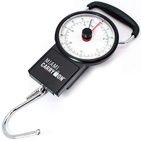 Miami Carry On Mechanical Luggage Scale, Black
