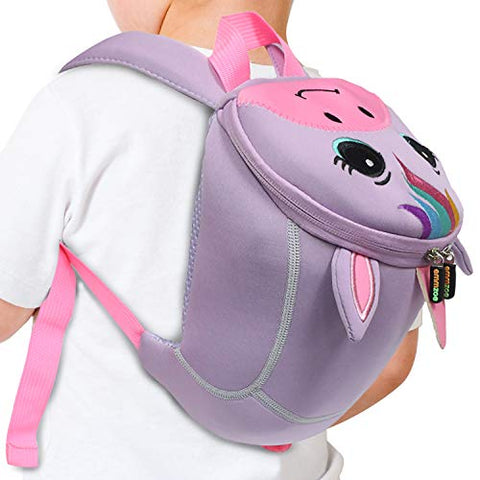 Emmzoe Toddler 3D Animal Backpack with Detachable Safety Harness Leash - Lightweight, Water