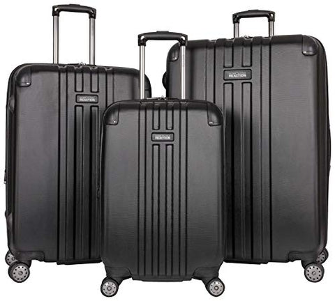 "Kenneth Cole Reaction Reverb Hardside 8-Wheel 3-Piece Spinner Luggage Set: 20"" Carry-on, 24"","