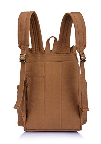 d536b3dc9e Vintage Canvas Backpack School Book Bag Casual Travel Rucksack - Coffee