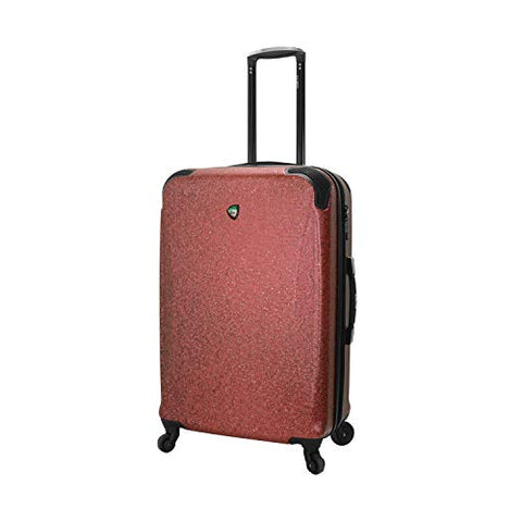Mia Toro Italy Ofena Hardside 26 Inch Spinner Luggage, Red