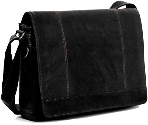 Jack George Voyager Full Size Messenger Bag Black
