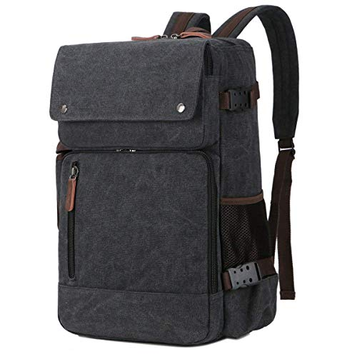 Baosha Bc-08 3-In-1 Multifunction Men'S Briefcase Rucksack Messenger Bag Convertible Vintage Canvas