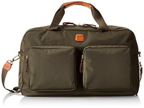 Bric's Luggage Bxl32192 X Bag Boarding Duffel, Olive/Cognac Trim, One Size
