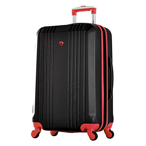 "Olympia Apache Ii 25"" Carry-on Spinner, BLACK+RED"