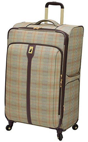 "London Fog Knightsbridge 29"" Expandable Spinner, Brown Glen Plaid"