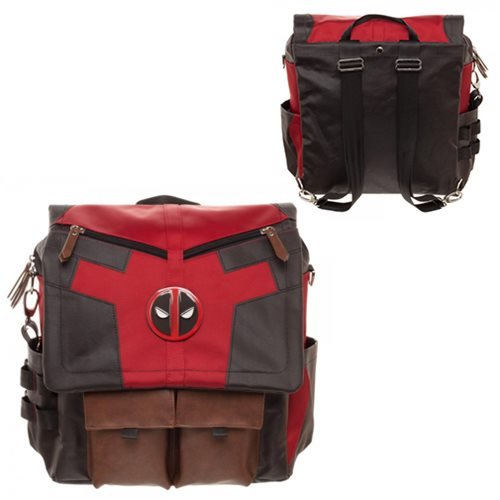 Marvel Deadpool Costume Inspired Utility Bag Crossbody Messenger Laptop Case