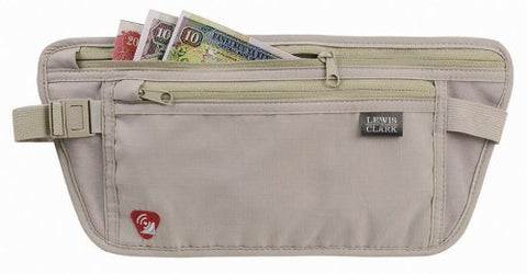Lewis N. Clark Rfid-Blocking Waist Stash Anti-Theft Hidden Money Belt, Taupe, One Size