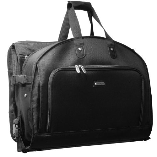 WallyBags 52-inch Framed Tri-Fold Garment Bag with Shoulder Strap and Multiple Accessory Pockets