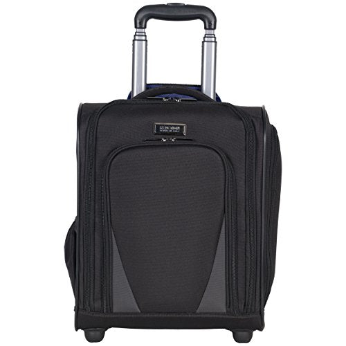 Kenneth Cole Reaction Going Places 600d Polyester 2-Wheel Underseater Carry-on, Black