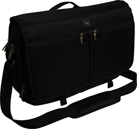 "Swissgear By Wenger Insider 16"" Laptop Messenger With Tablet Pocket - Black"